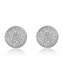 Серебряные серьги Созвездие