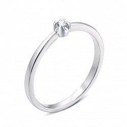 Кольцо из белого золота с бриллиантом 000134273
