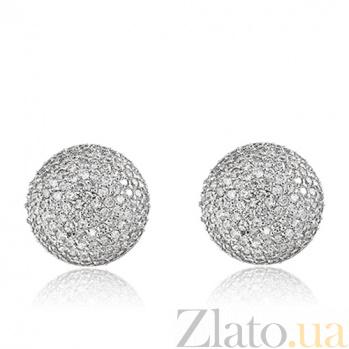 Серебряные серьги Созвездие 10030090