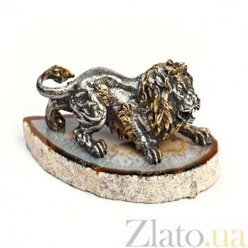 Серебряная статуэтка Лев 578
