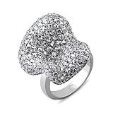 Золотое кольцо с белыми сапфирами Арктическая пустыня