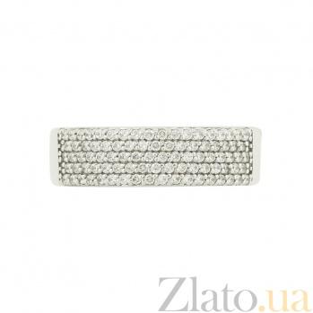 Кольцо из белого золота с фианитами Вида 2К220-0059