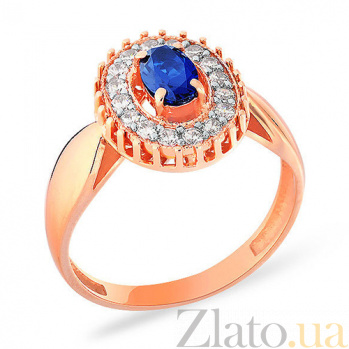 Кольцо из красного золота с фианитами Этель SUF--140344с