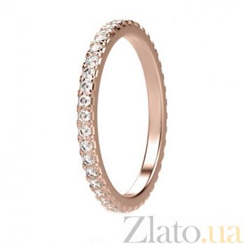 Обручальное кольцо из розового золота с бриллиантами Вечное сияние 1257