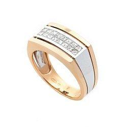 Золотое кольцо Брайтон-Бич с бриллиантами 000091542