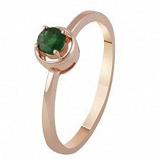 Золотое кольцо с изумрудом Эмилия