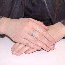 Кольцо из белого золота Мирта