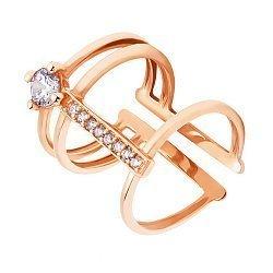 Фаланговое кольцо с дорожкой фианитов 000104466