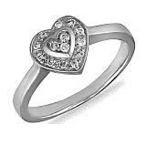 Кольцо Ирма из белого золота с бриллиантами