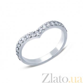 Серебряное кольцо с цирконами Дорога любви  AQA--1872