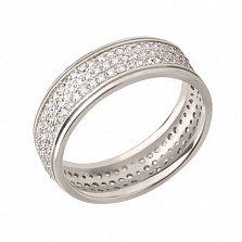 Обручальное кольцо из белого золота Дидилия с фианитами