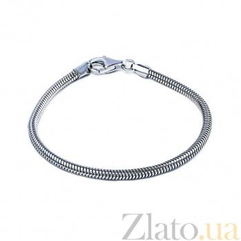 Серебряный браслет для бусин Снейк AQA--CDT3.0B