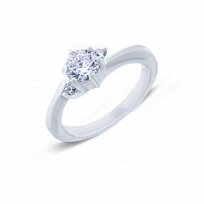 Серебряное кольцо с цирконами Слова любви