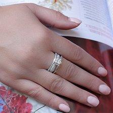 Кольцо из белого золота с бриллиантами Авалона