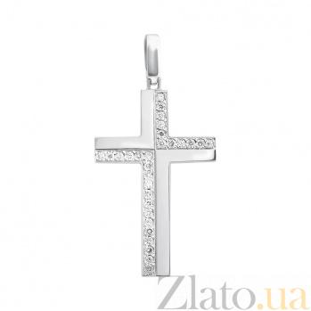 Крестик из белого золота Статус EDM--КР7149/1