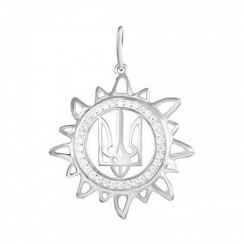 Срібний підвіс Сонце України 000031012