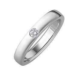 Обручальное кольцо из белого золота с бриллиантом 000148704