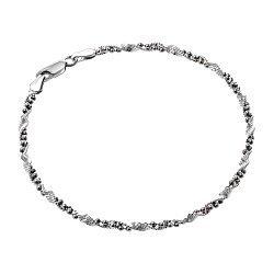 Серебряный браслет с чернением 000026018
