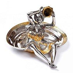 Серебряная пепельница с позолотой 000004294