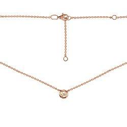 Колье из красного золота с шампаневым кристаллом Swarovski 000129522