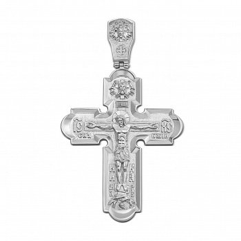 Срібний хрест з іконами на тильній стороні 000126309