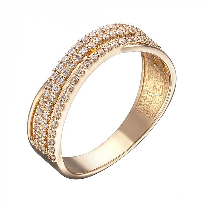 Кольцо в красном золоте Варвара с фианитами 000067800