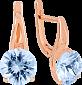 Золотые серьги с топазами Селесте VLN--113-201-1