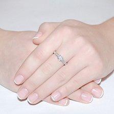 Золотое кольцо Erika в белом цвете с бриллиантами