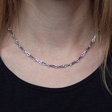 Серебряная цепь Магия геометрии с треугольными звеньями, 3,5мм