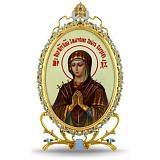 Серебряная икона с образом Богородицы Семистрельная