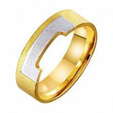 Золотое обручальное кольцо Влечение сердца