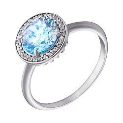 Серебряное кольцо с фианитами и альпинитом Атлантида