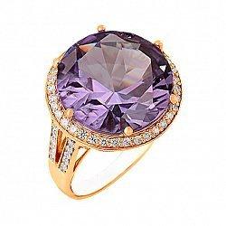 Золотое кольцо Успех с александритом и фианитами 000018481