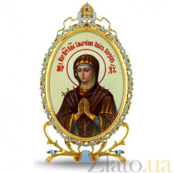 Серебряная икона с образом Богородицы Семистрельная 2.78.0398