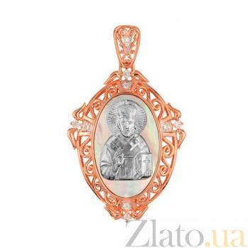 Ладанка из золота Николай Чудотворец VLT--Е3599