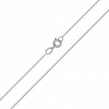 Золотая цепочка Прованс в белом цвете панцирного плетения, 1мм