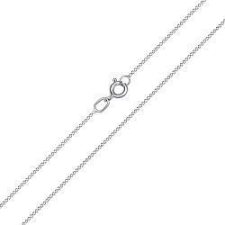 Цепочка из белого золота панцирного плетения 000115611, 1мм