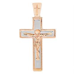 Крестик из комбинированного золота Силы Небесные 000007584