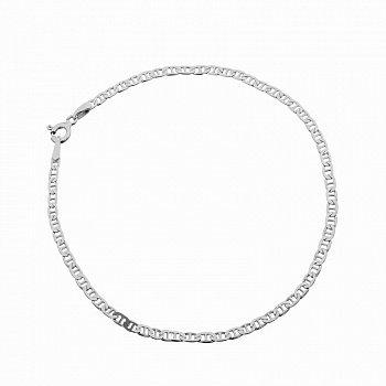 Серебряный браслет с родированием, 5 мм 000071948