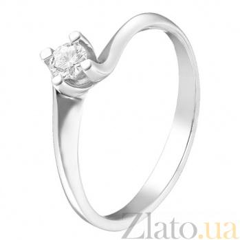 Кольцо из белого золота с бриллиантом Признание TRF--1221628н/брил