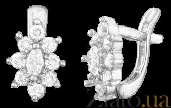 Серебряные серьги с фианитами Сонал SLX--С2Ф/011