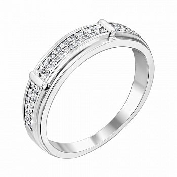 Кольцо из белого золота с бриллиантами 000140670