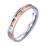 Золотое обручальное кольцо Идиллия с фианитами