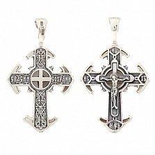 Крест из серебра Возрождение