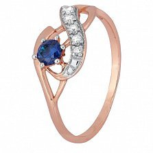 Кольцо из серебра Гергана с позолотой и цирконием