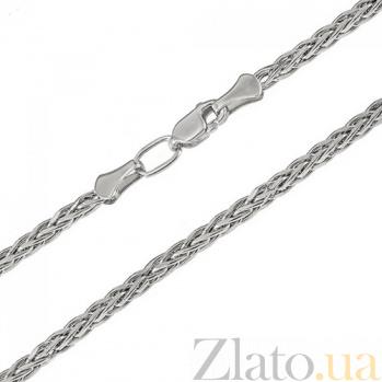 Серебряная родированная цепочка Колосок LEL--10301
