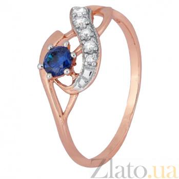 Кольцо из серебра Гергана с позолотой и цирконием 000028219