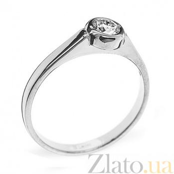 Кольцо из белого золота с бриллиантом Noor R0411/бел