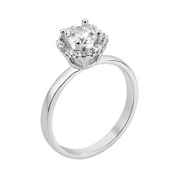 Серебряное кольцо с фианитами 000133760