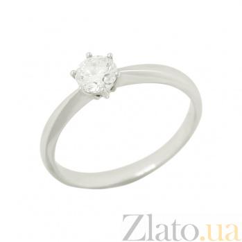 Золотое кольцо с бриллиантом Силия 1К035-0001